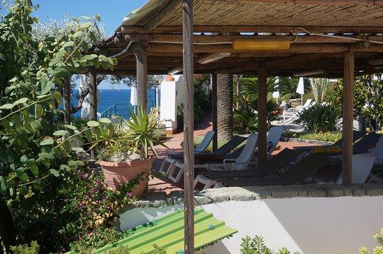 Giardini Termali Tropical: Шезлонги с видом на море