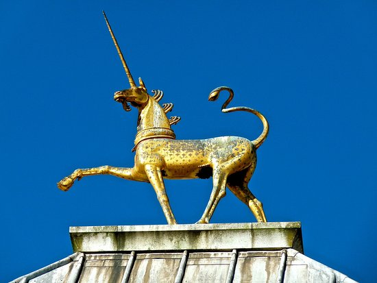 unicorn on council offices at college green bristol picture of