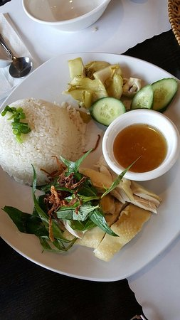 Westminster, Califórnia: Hainan chicken and rice