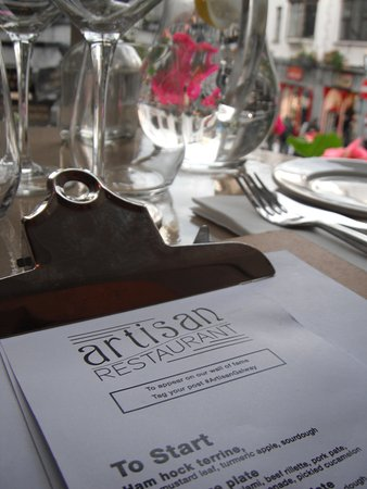 Beautifully set table Picture of Artisan Galway TripAdvisor