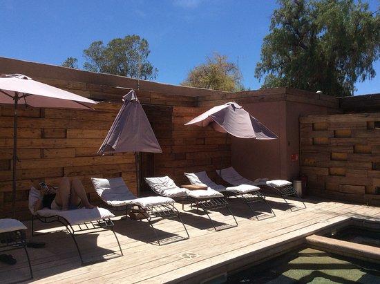 Lodge Andino Terrantai: Rica piscina siempre con sol