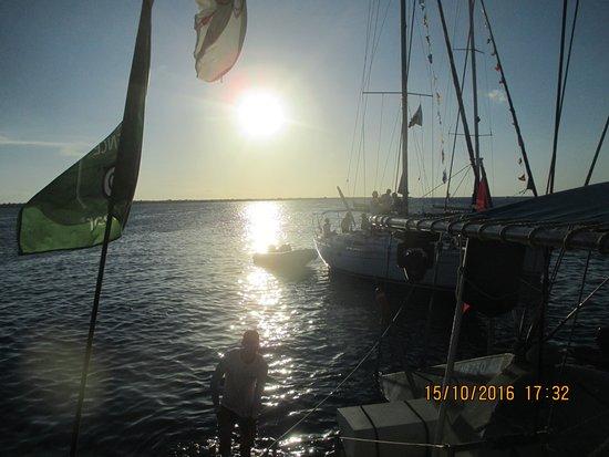 Kralendijk, Bonaire: mooie zons ondergang