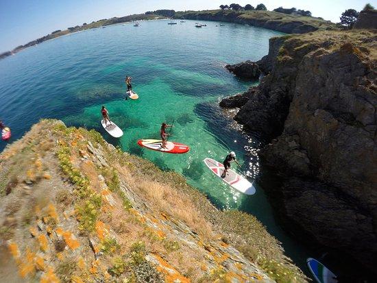 Locmaria, France: Stand up Paddle à la pointe du Bugul. Le paradis est à vous!