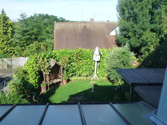 Thaxted, UK: The view from the room at the back of the house