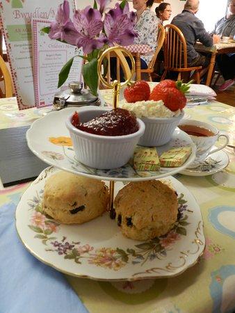 Llanddeusant, UK: Delicious scones in the tearoom