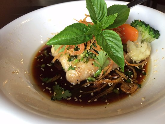 Katre Bistro: The catfish. comes with a bowl of rice.