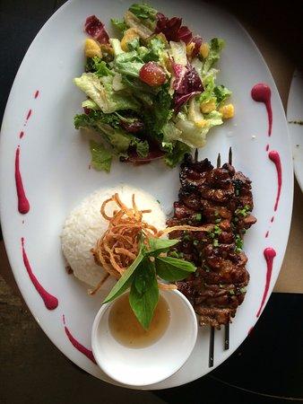 Katre Bistro: Barbecue pork. A little spicy.