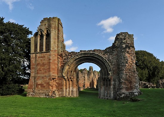 The west side of the church at Lilleshall Abbey