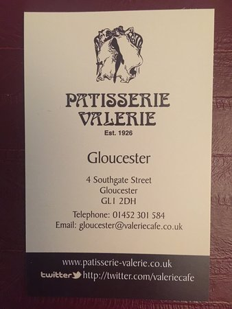 Business card picture of patisserie valerie gloucester tripadvisor patisserie valerie business card reheart Choice Image