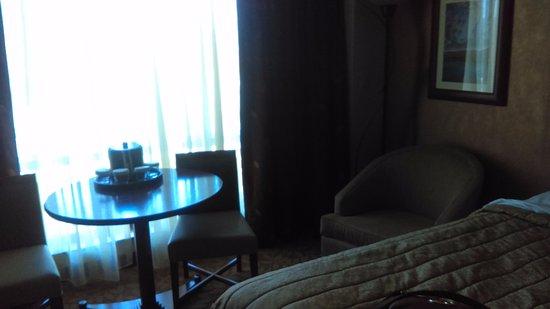 Salamanca, NY: Chair and table