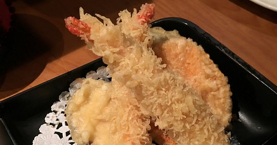 Wasabi Japanese Restaurant and Sushi Bar: Shrimp and vegetables in a light tempura coating, served piping hot