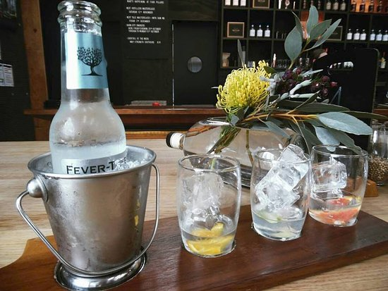 Healesville, Австралия: G&T tasting paddle.