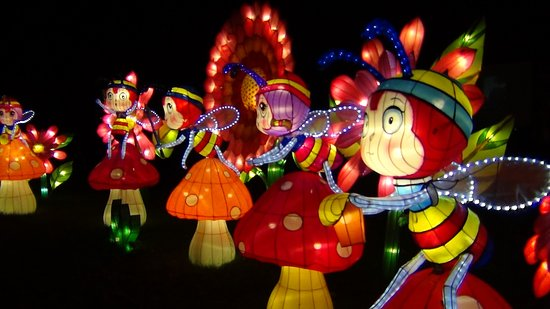 Hales Corners, WI: China Lights -Flower Fairy Lanterns