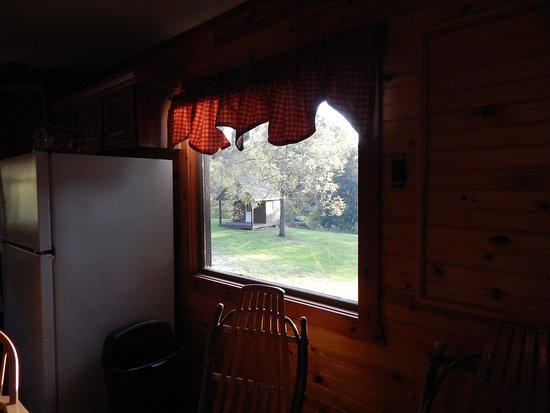 House Mountain Inn: Looking out at the smokehouse