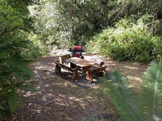 Cooroy, Australia: BBQ area for the Federation Cottage.