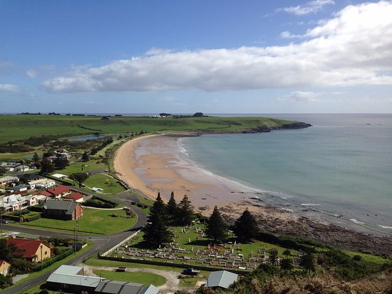 Stanley, Australia: Half way up The Nut. View to the west
