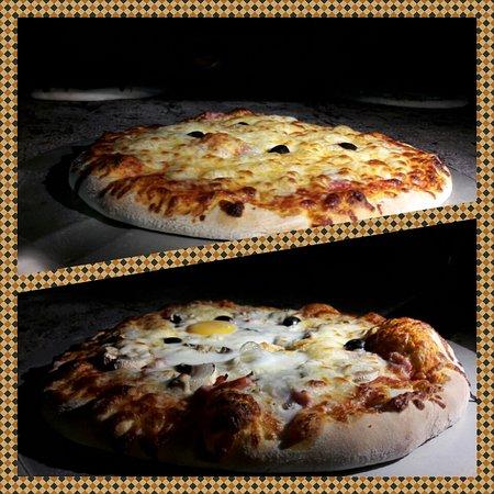 Althen-des-Paluds, Frankrike: 2 de nos pizzes.