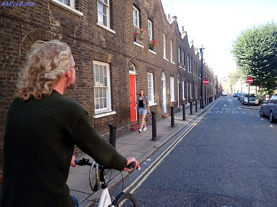 Cycle Tours of London: Cycling Along Roupell Street Houses
