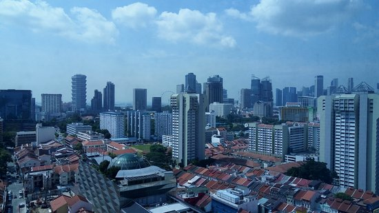 PARKROYAL on Kitchener Road: View from our room - 2035