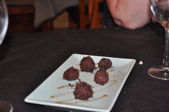 Huercal-Overa, Spain: truffles with coffee