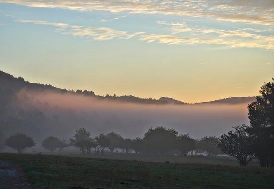 Thorenc, Frankrike: la vue au petit matin