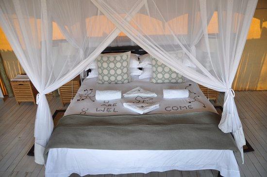 Ghoha Hills Savuti: Mit viel Liebe vorbereitetes Innenleben des Zeltbaus.