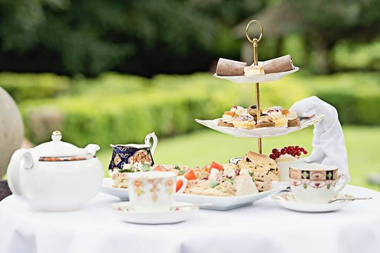 Barnby Moor, UK: Afternoon Tea on Vintage China on the Garden Terrace