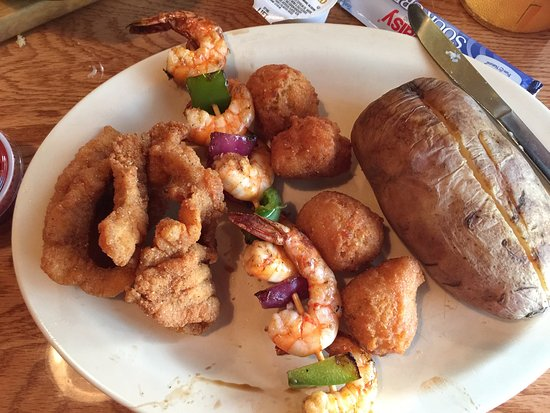 Top O' The River: catfish and shrimp combo