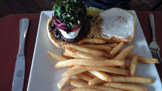 McLean, VA: The Caprese Burger with French Fries