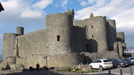 Harlech Castle as seen approaching from the town centre