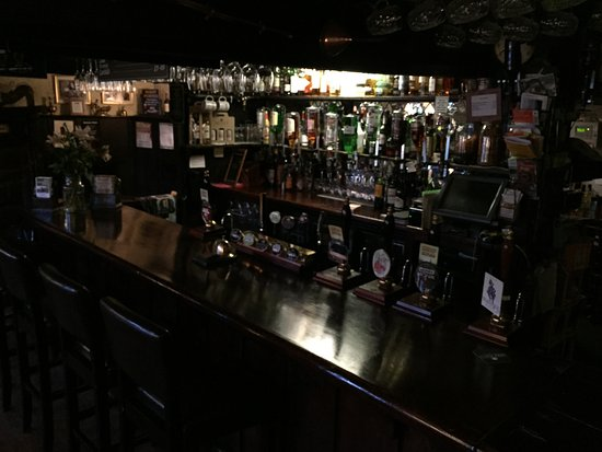 Okehampton, UK: The bar