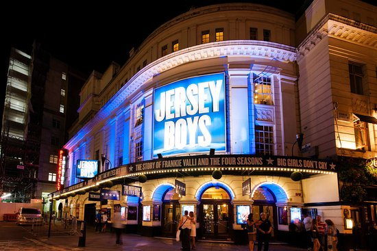 External night view of Piccadilly Theatre