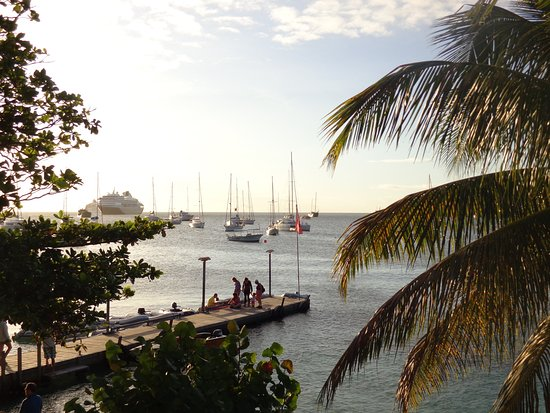 Kingstown, St. Vincent: End of a beautiful day on the calm waters of the Grenadines