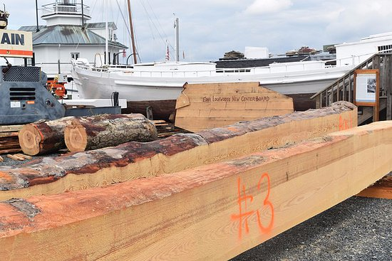 St Michaels, MD: Take in the 2016-2018 log-hull restoration of Edna Lockwood in the boatyard