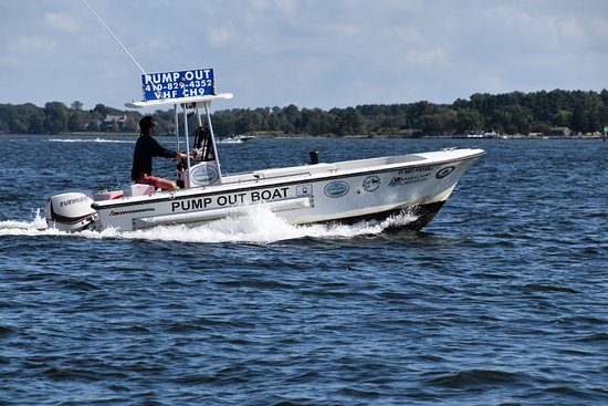 St Michaels, MD: The Mid-Shore Riverkeeper Conservancy's Pump Out boat has a home at CBMM