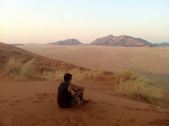 Сесрием, Намибия: Vue depuis la dune