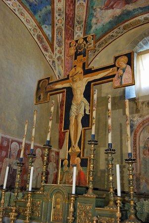 Tuoro sul Trasimeno, Italia: Pieve di S. Michele Arcangelo: Crocefisso ligneo.