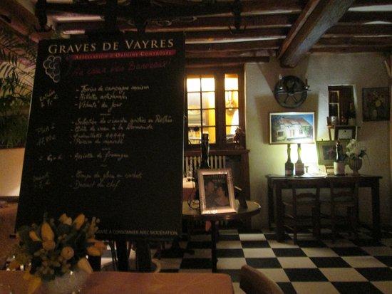 Croisy-sur-Eure, Francia: Menu