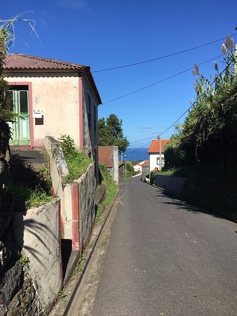 Cedros, Portugal: The road from Patio to town.