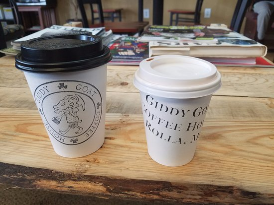 Rolla, MO: 12 oz Pumpkin Pie latte and an 8oz latte
