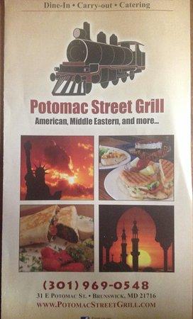 Potomac Street Grill : Menu