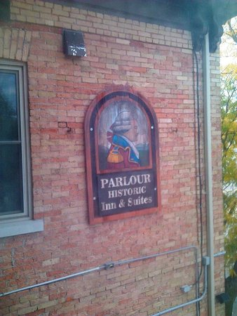The Parlour Inn: Quaint sign from the window