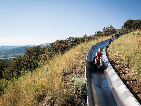 Park City UT Alpine Slide At Utah Olympic