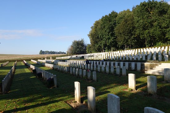 Somme, France : Cemetery  at Contay