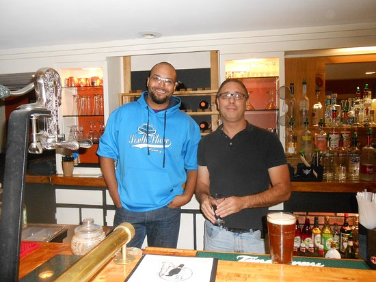 Rutland, VT: Two bartenders (one possibly the owner) at Strangefellows