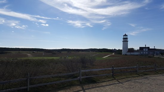 Truro, MA: The golf course surrounds the lighthouse