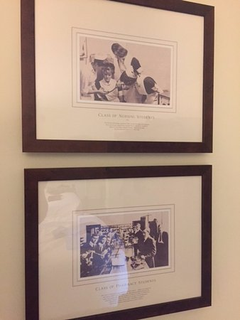 The Carolina Inn: Classic vintage photos of UNC classrooms adorn the bedrooms - here, nursing and law school photo