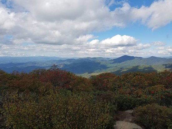 Burnsville, Carolina del Norte: View to the west from the top of Mt. Mitchell.