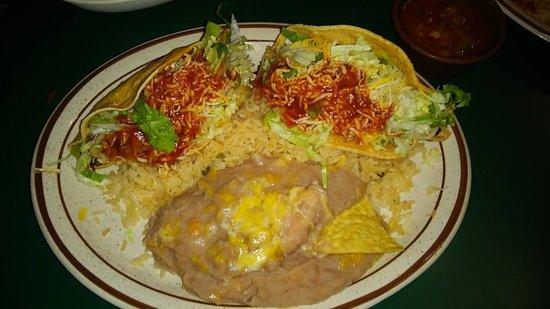 Two Shredded Beef Combo Picture Of Azteca Restaurant Lounge Garden Grove Tripadvisor