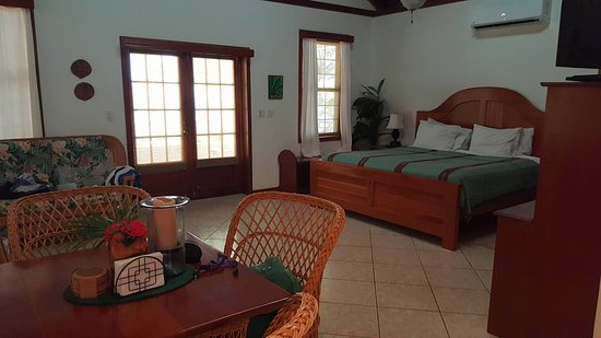 Cocotal Inn & Cabanas: Spacious, clean room with A/C! It was all we needed and definitely the best value for the price!